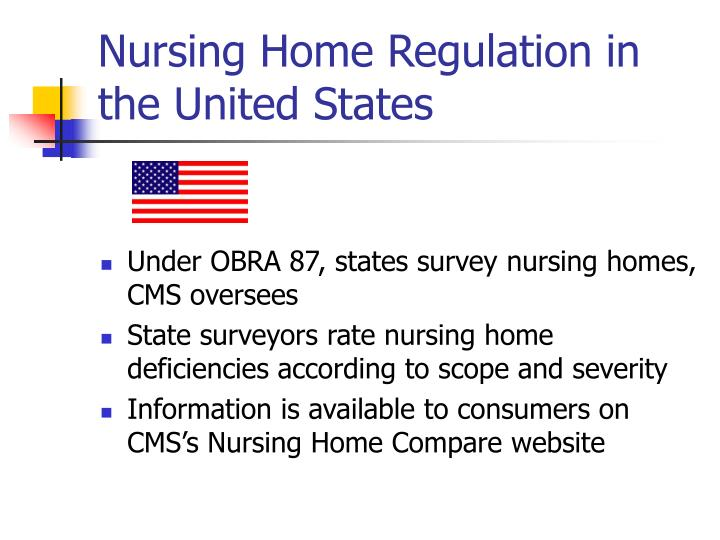 Nursing home regulation in the united states