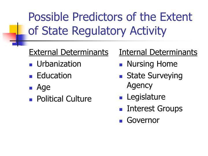 External Determinants