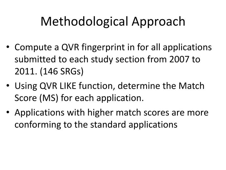 Methodological approach