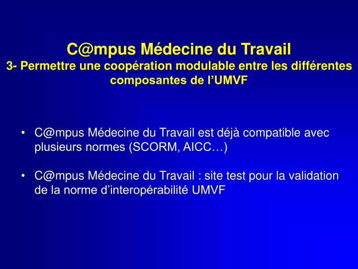 C@mpus Médecine du Travail