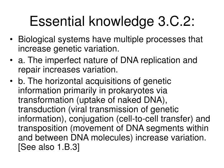 Essential knowledge 3.C.2: