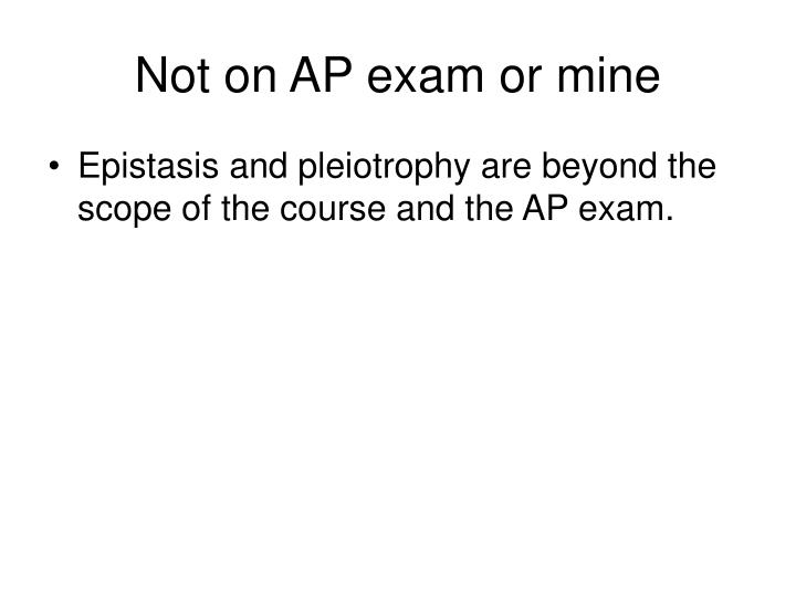 Not on AP exam or mine