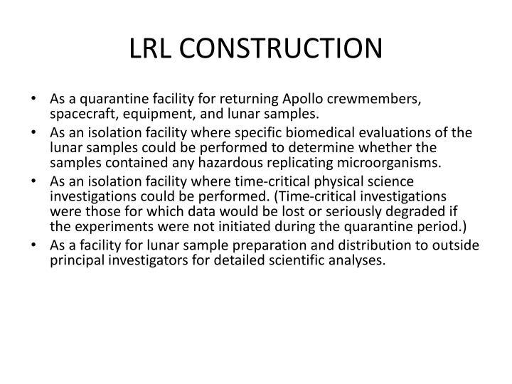 LRL CONSTRUCTION