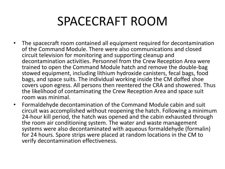 SPACECRAFT ROOM