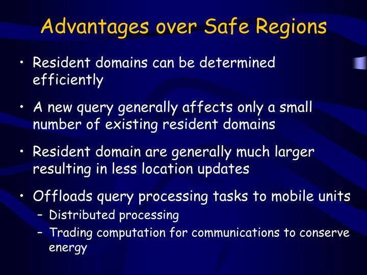 Advantages over Safe Regions