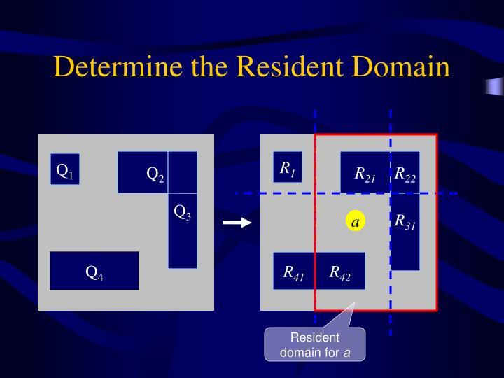 Determine the Resident Domain
