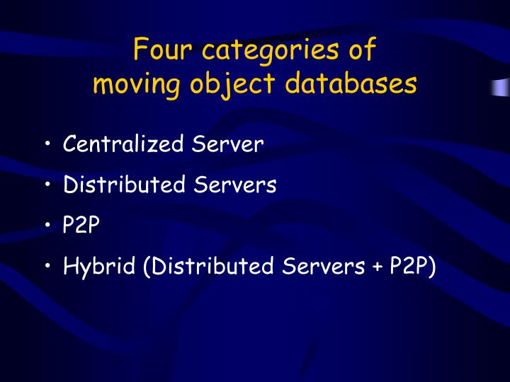 Four categories of