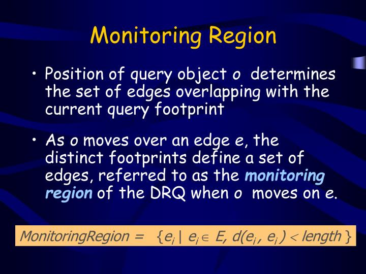 Monitoring Region