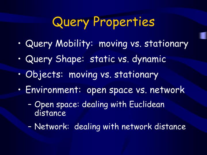 Query Properties