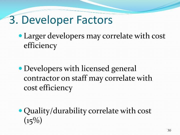 3. Developer Factors