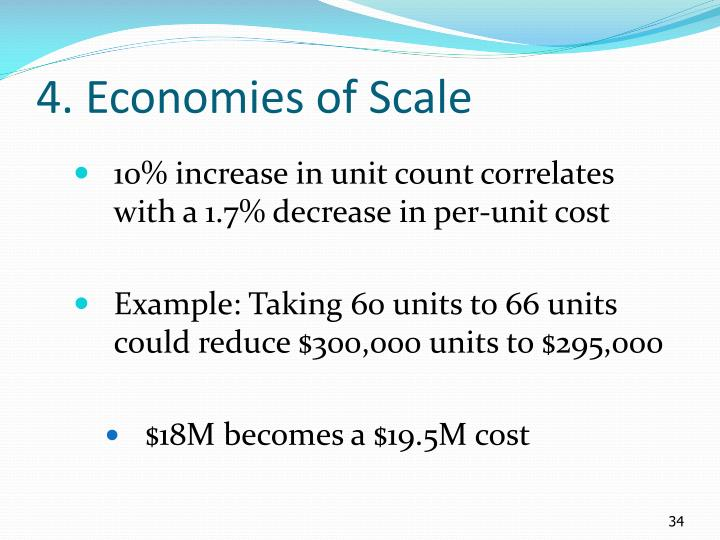 4. Economies of Scale