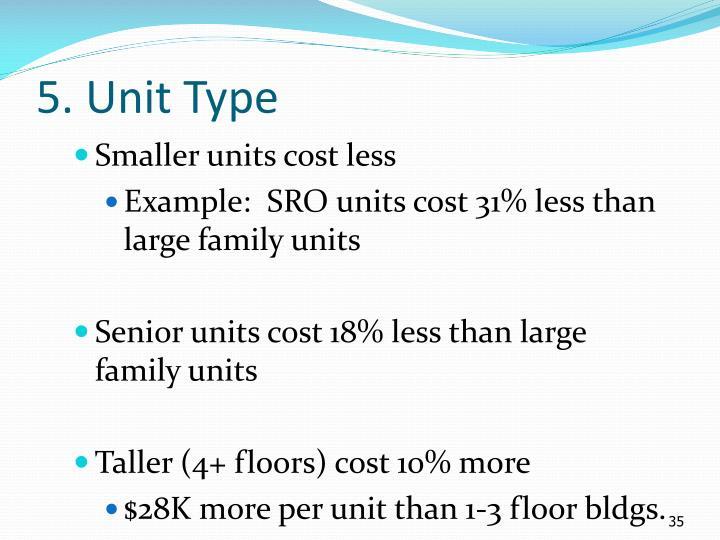 5. Unit Type