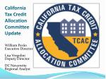 california tax credit allocation committee update