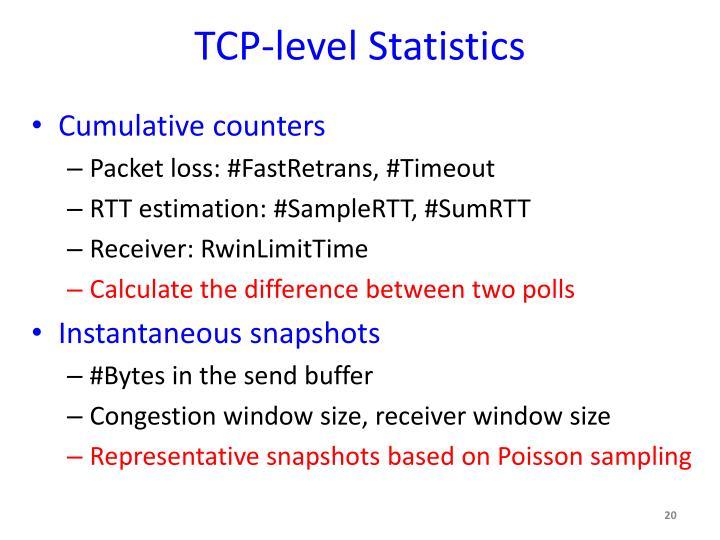 TCP-level Statistics