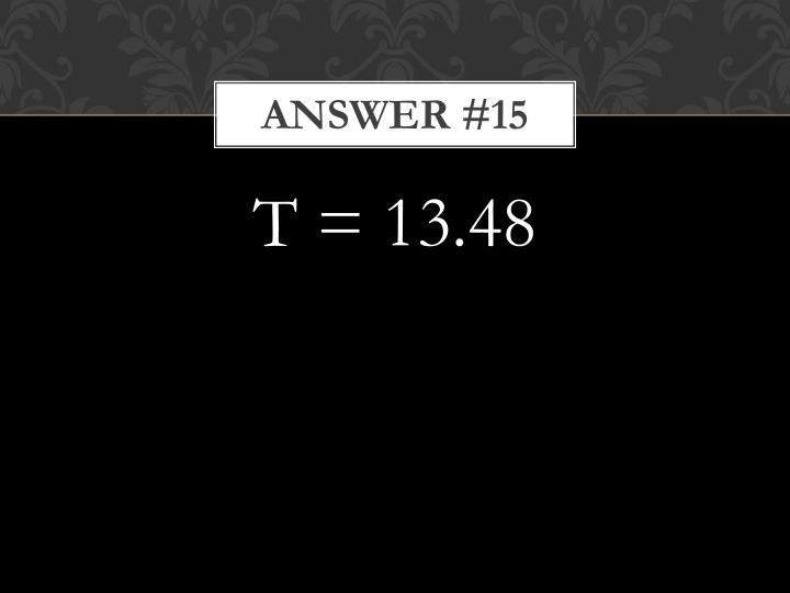 Answer #15