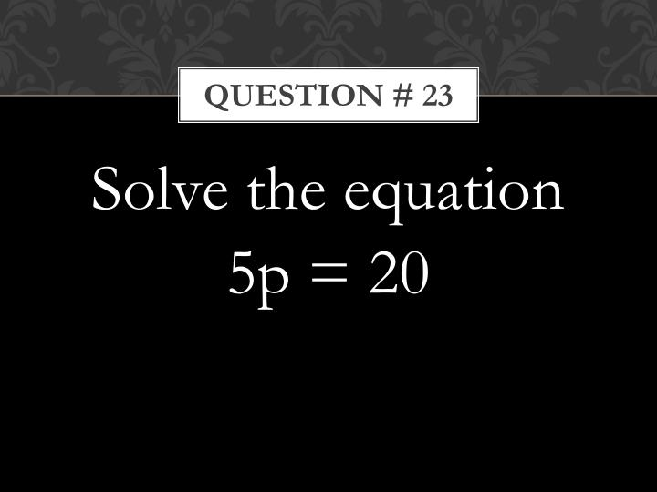 Question # 23