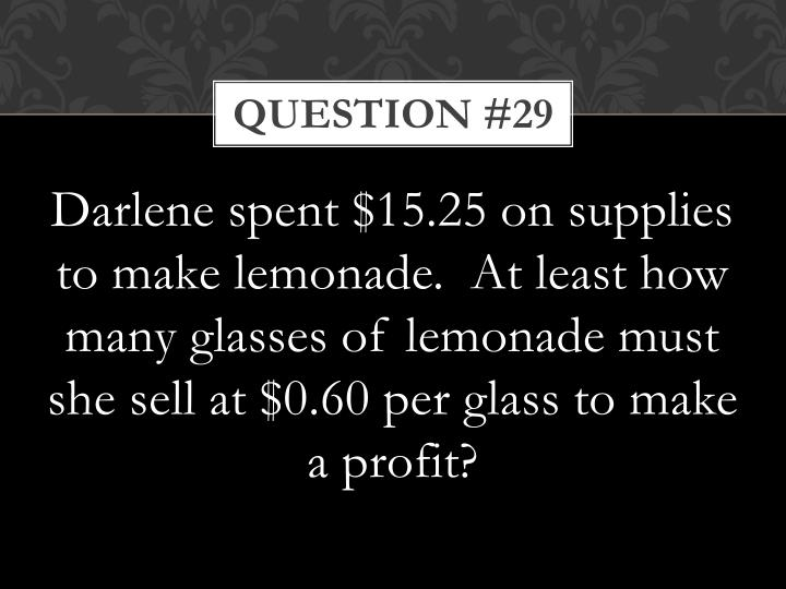 Question #29