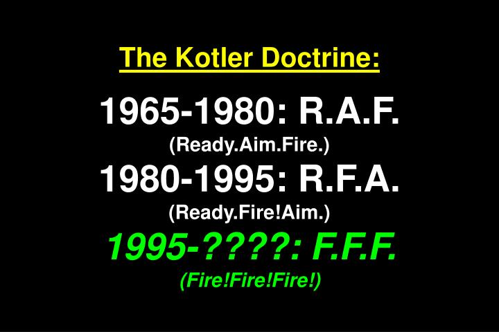 The Kotler Doctrine:
