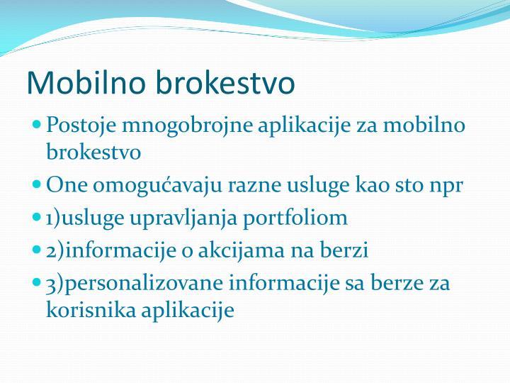 Mobilno brokestvo