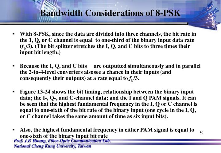 Bandwidth Considerations of 8-PSK