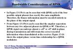 bandwidth considerations of bpsk11