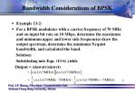 bandwidth considerations of bpsk3