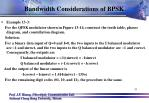 bandwidth considerations of bpsk9