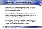 bandwidth considerations of fsk