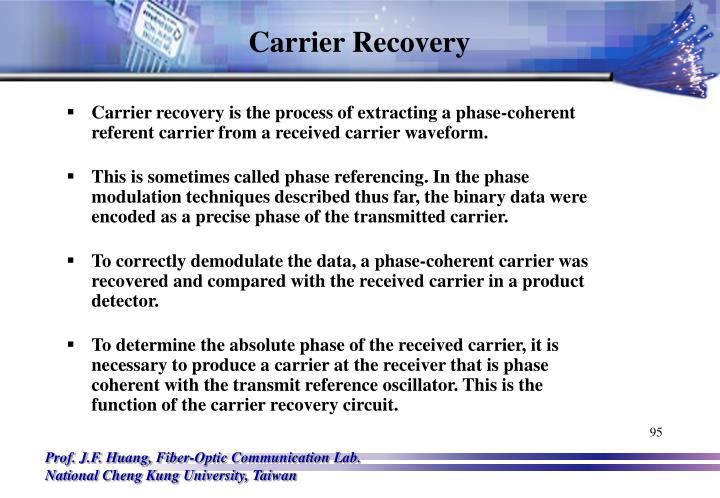 Carrier Recovery