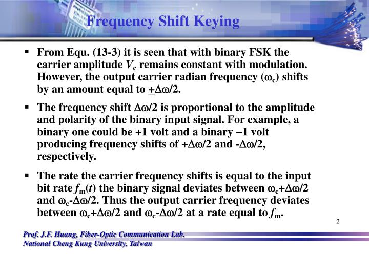 Frequency shift keying1