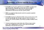 probability of error and bit error rate