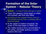 formation of the solar system nebular theory
