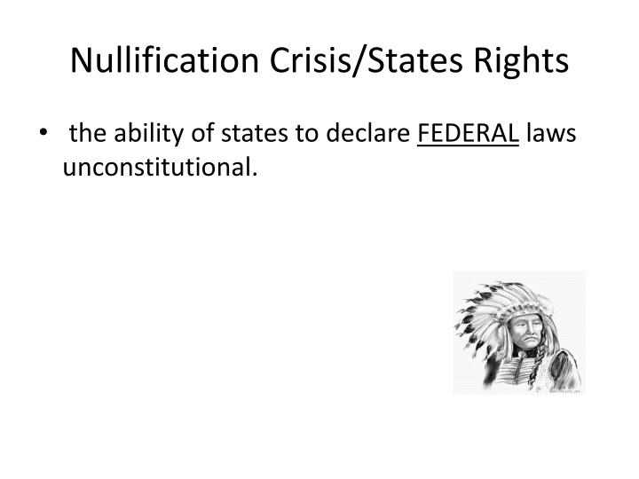 Nullification Crisis/States Rights
