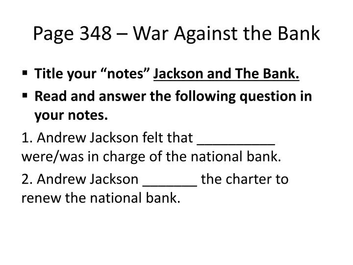 Page 348 – War Against the Bank