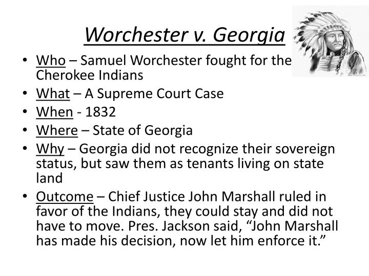 Worchester v. Georgia