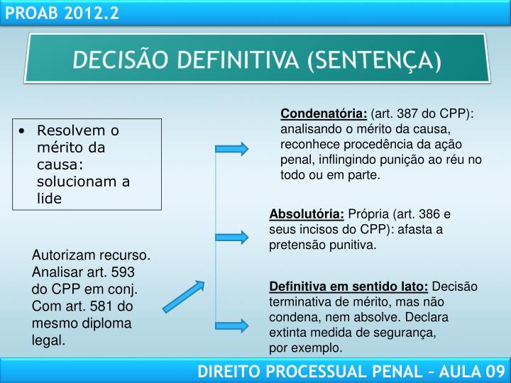 DECISÃO DEFINITIVA (SENTENÇA)