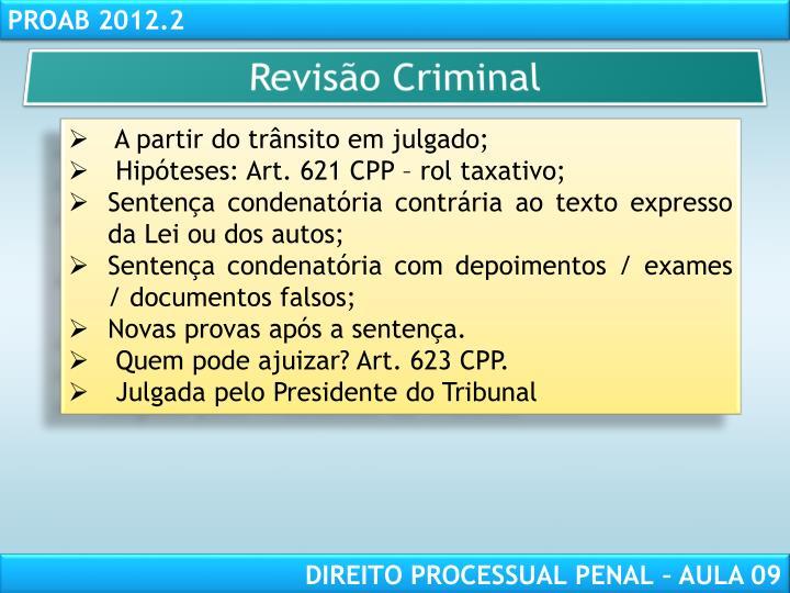 Revisão Criminal
