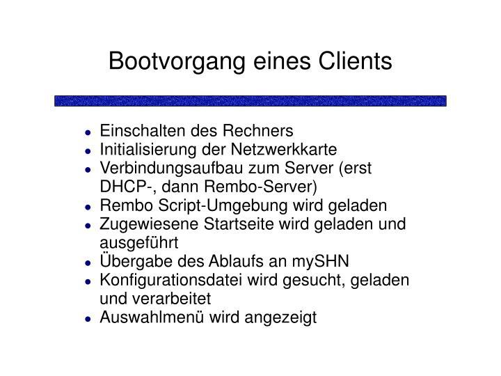 Bootvorgang eines Clients