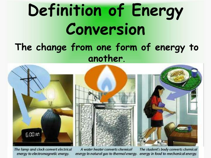 Definition of energy conversion