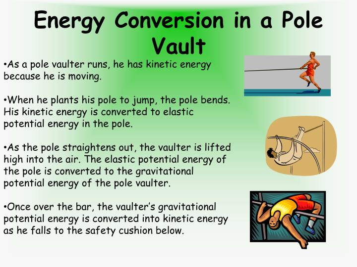 Energy Conversion in a Pole Vault