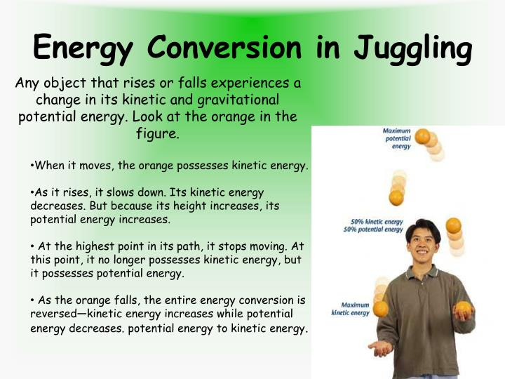 Energy Conversion in Juggling