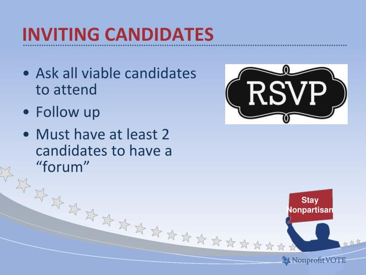 Inviting Candidates