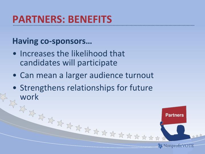 Partners: Benefits