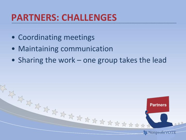 Partners: Challenges