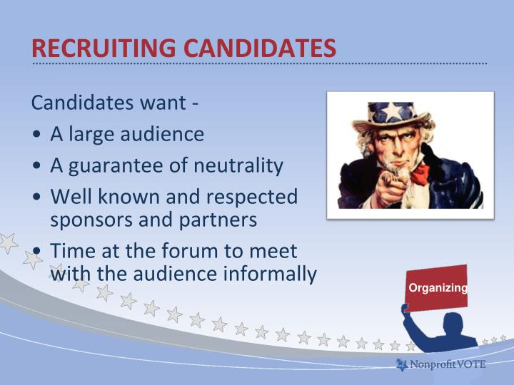 Recruiting candidates