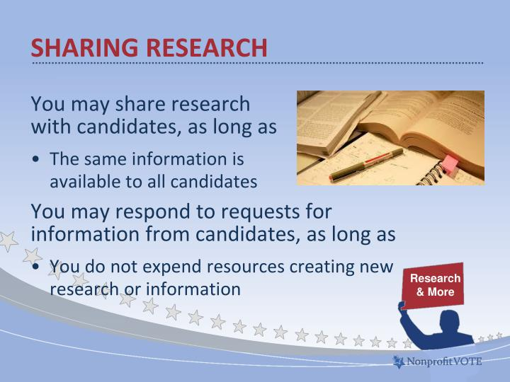 Sharing research