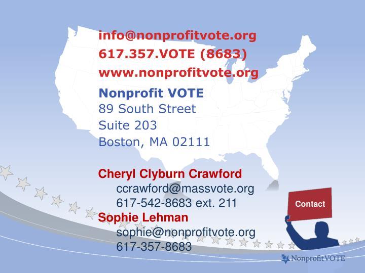 info@nonprofitvote.org