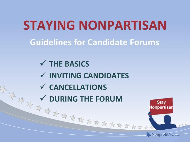 Staying nonpartisan