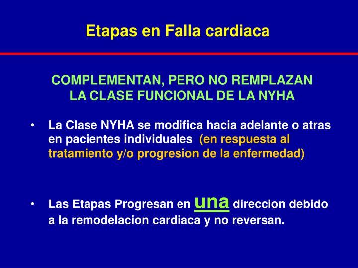 Etapas en Falla cardiaca