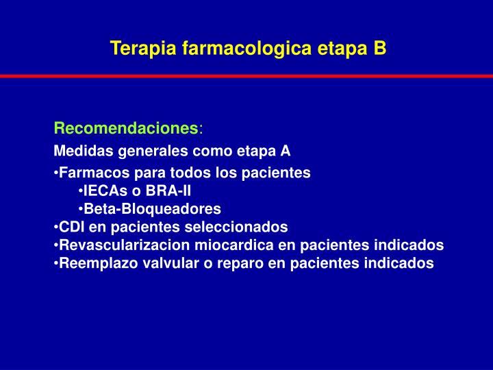 Terapia farmacologica etapa B